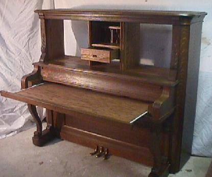 SOLD! - Piano Desk And Desks Made From Upright Pianos. McClard Bros. Piano
