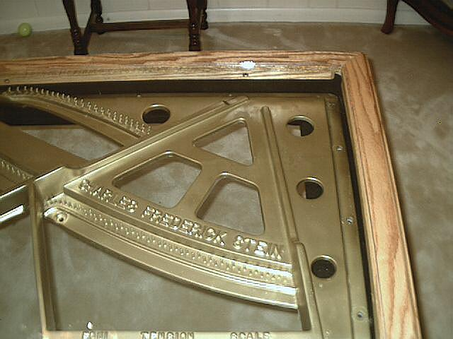Dining Room Table Made From A Piano Harp